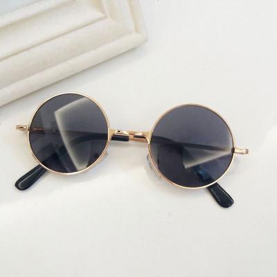 童萌小眼镜太阳镜潮女小圆形墨镜宝宝可爱男儿童圆框眼镜复古眼镜
