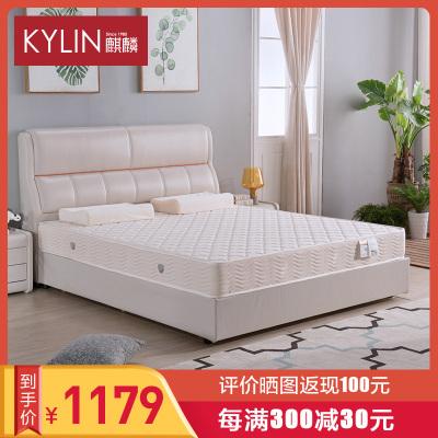 麒麟床垫 偏硬弹簧床垫软硬两用成人床垫1.5/1.8 金陵春H