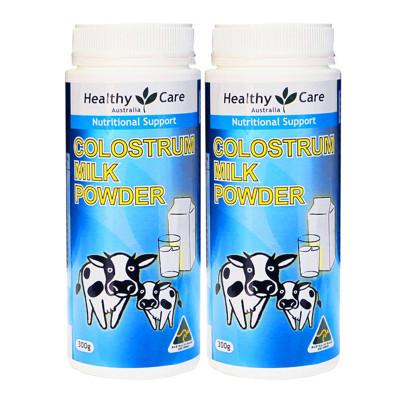 【2瓶】澳洲直邮Healthy Care纳世凯尔HC牛初乳粉 300g 儿童学生成人孕妇老人适用 粉剂