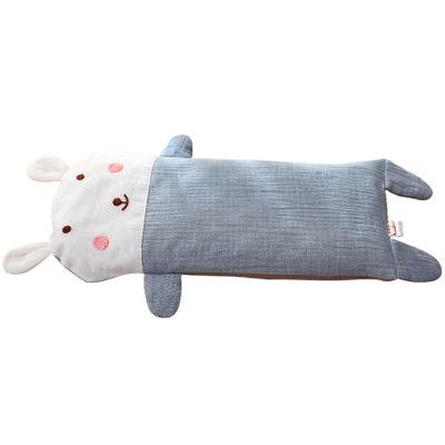 龍之涵(LONGZHIHAN)嬰兒枕寶寶四季紗布加長枕頭兒童幼兒園卡通蕎麥殼枕頭1-3-6-12歲