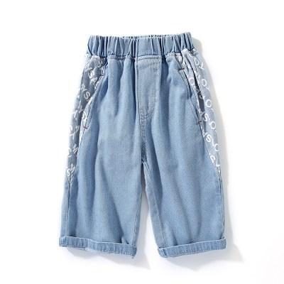 男童牛仔短裤儿童七分裤夏装童装中裤薄款中大童牛仔裤潮