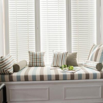 BONJEAN北歐高密度海綿飄窗墊窗臺墊定做沙發墊條紋陽臺榻榻米墊卡座
