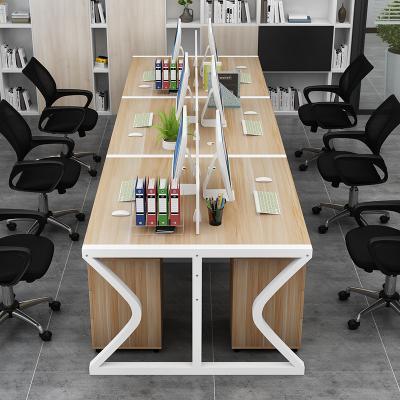 鑫環境 職員電腦桌多人辦公桌椅四人位屏風組合2/4/6六人位 簡約員工卡座