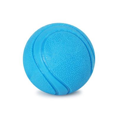 寵物耐咬不爛球實心TPR彈力球訓狗球訓犬球狗啃咬球狗狗玩具球 藍色5cm小號