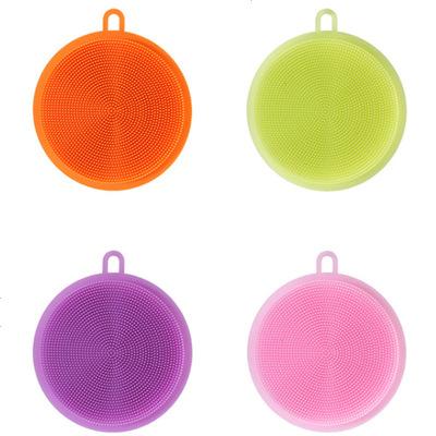 多功能廚房去污硅膠洗碗刷加厚百潔布刷碗布擦碗清潔刷抹布3片裝