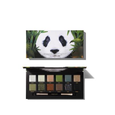 完美日记(PERFECT DIARY)探险家十二色动物眼影盘 12色眼影大熊猫盘 discovery联名眼影