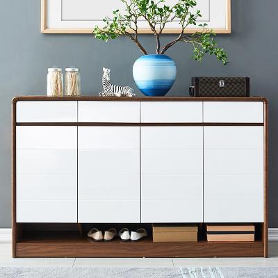 新柜尔(xin gui er furniture) 北欧实木鞋柜阳台储物柜家用大容量门口简约现代收纳经济型门厅玄关柜