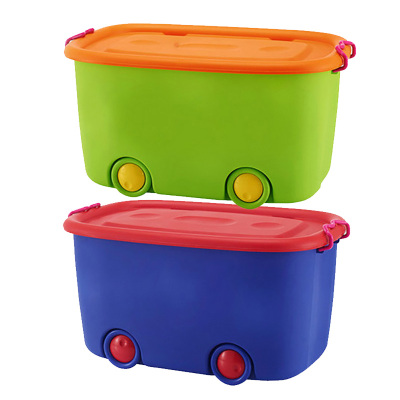 特大號玩具收納箱兒童整理箱塑料智扣寶寶兒童玩具收納儲物箱置物箱子 一青出于藍一綠林好漢 兩個特大加厚款裝