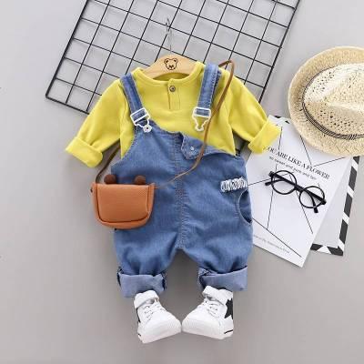 寶寶春裝套裝男1一3周歲洋氣0潮嬰兒春秋2男童兒童背帶褲2020新款