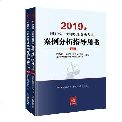 0602新版 2019司法考試案例分析指導用書上下冊全套2本 2019國家法律職業資格考試輔導用書案例分析指導