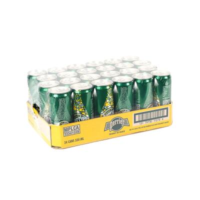 【檸檬罐裝】巴黎水(Perrier)天然氣泡礦泉水(檸檬味)罐裝 330ml*24罐/箱 進口飲用水 礦物質水 法國進口