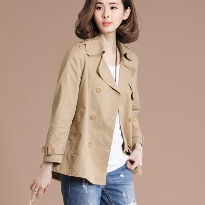 欣鴻茗二八月春款外套女2020年新款寬松中年媽媽裝秋冬矮小個子短款風衣