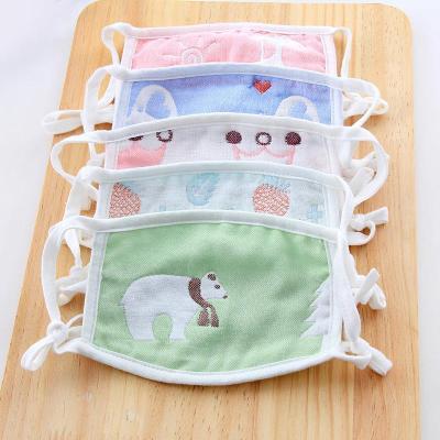 【四支裝】可調節兒童口罩秋冬季純棉六層紗布可愛兒童寶寶口罩元氣小猴日常防護