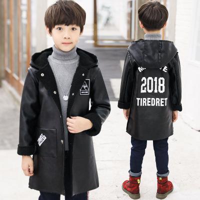 男童装9冬装外套10中大童11皮衣12男孩子13冬季14加绒棉衣服15岁8