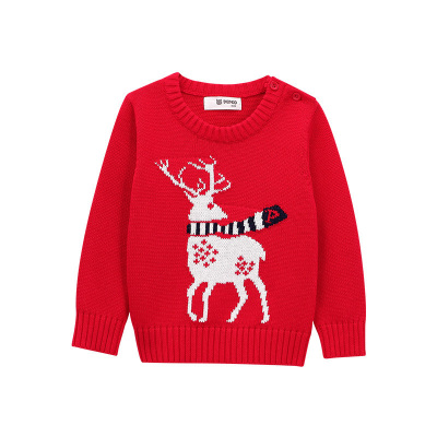 小豬班納童裝男童女童毛衣2020秋冬裝新款全棉套頭針織衫中大童毛衣