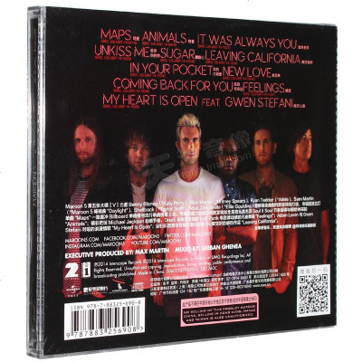 正版 魔力紅 Maroon 5 V 專輯 CD 歐美流行搖滾音樂唱片