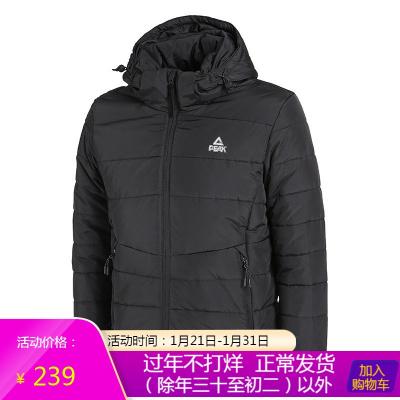 匹克棉服2018冬季男士新款厚棉衣防风耐磨保暖户外综合训练DF584051
