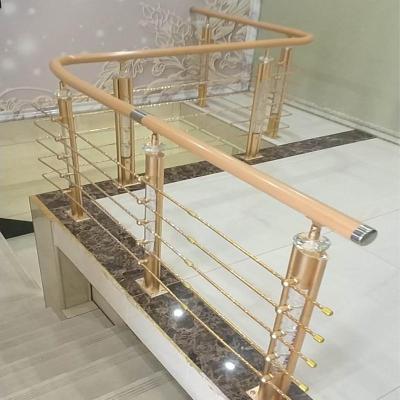 樓梯扶手護欄欄桿別墅室內簡約現代不銹鋼圍欄閃電客鋁合金北歐家用復式 4號夢幻水晶一米價格