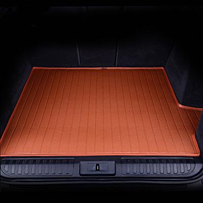 爱绿能(IGEG)汽车后备箱垫 行李箱尾箱垫 皮革耐磨 专车专用棕色 下单请备注车型年款