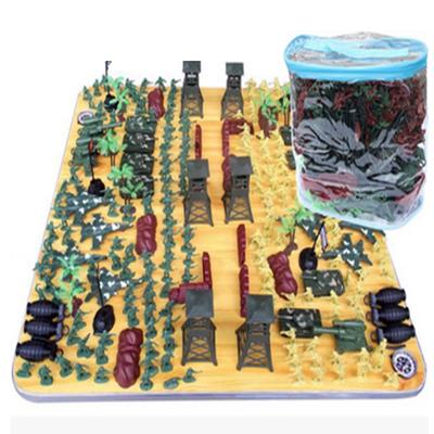 智扣兒童小兵人玩具二戰軍事模型套裝300件套 300件套