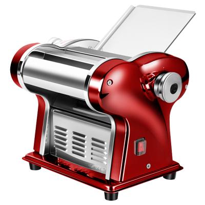 俊厨不锈钢压面机家用红色电动全自动面条机小型厨具多功能切面机饺子皮馄饨皮机擀面皮机揉面机制面机挂面机宽窄圆面条机轧面机器
