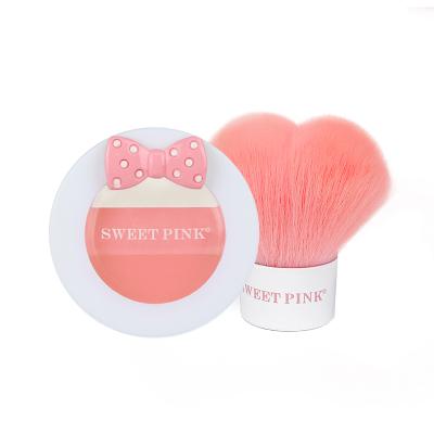 粉色安琪sweetpink公主腮紅禮盒(密桔粉)3.8G提亮膚色;色澤持久;遮瑕;定妝;修顏