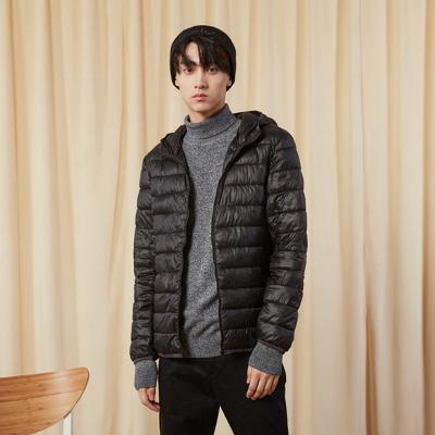 【2件2.5折價:99.8】美特斯·邦威棉衣男冬新時尚青春活力保暖男科技絨連帽棉褸