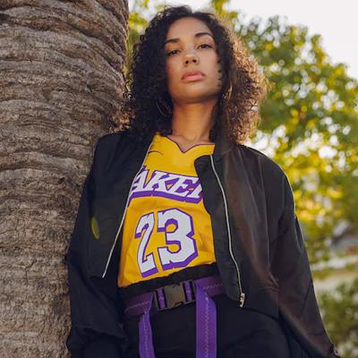 NIKE NBA運動T恤耐克男子籃球球衣詹姆斯23號湖人城市限定AV4646