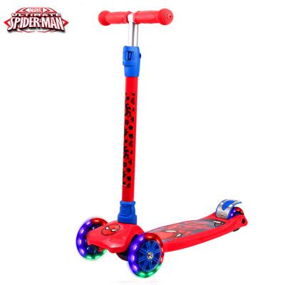 DISNEY/迪士尼滑板车 蜘蛛侠 一秒拆卸摇摆车全闪光四轮滑板车扭扭车滑行车