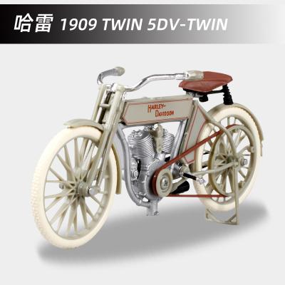適用于哈雷1:18越野機車仿真合金摩托車1909 TWIN 5DV-TWIN模型成人收藏