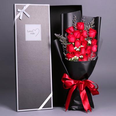 五二零 鮮花速遞全國 19朵紅玫瑰禮盒禮物生日花束預定 東莞長沙青島無錫杭州濟南同城花店送花上門
