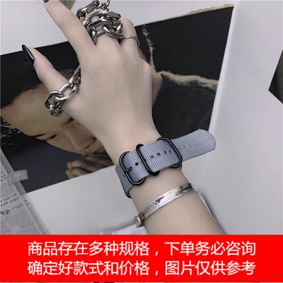 韩版ins运动风嘻哈街头个性手链简约百搭饰品机能手环表带男女潮