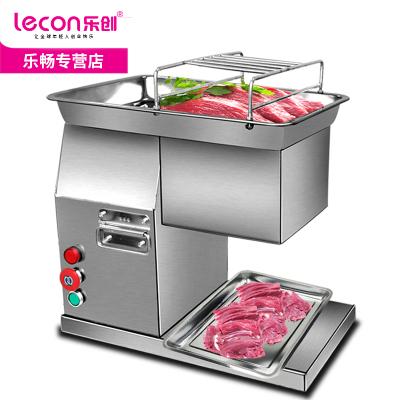 乐创(lecon)台式切肉机商用切丁切片切丝机全自动切肉片机切菜机多功能电动切肉机600W220V
