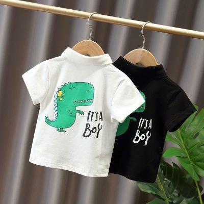 童裝男童短袖T恤夏季新款棉寶寶短袖韓版兒童POLO衫中小童休閑3莎丞(SHACHEN)