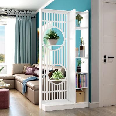 卡汐沐屏風隔斷客廳裝飾進入戶酒柜雙面間廳柜鏤空玄關柜現代簡約