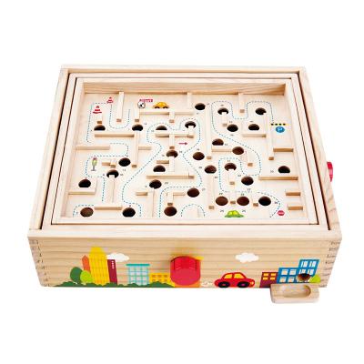 Hape超级滚珠迷宫3-6岁益智玩具掌握平衡儿童宝宝早教立体游戏盒亲子互动男孩女孩玩具