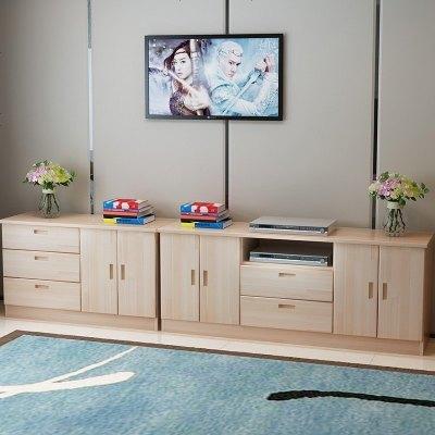 定制實木客廳柜電視柜松木矮地柜邊柜儲物柜簡約柜現代臥室柜