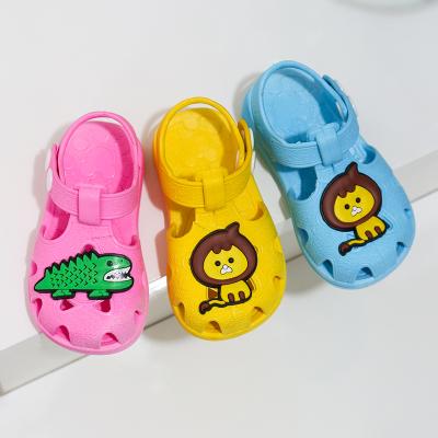 兒童涼鞋夏男女包頭軟底防滑學步鞋寶寶0-3歲嬰幼兒防尿塑膠鞋子