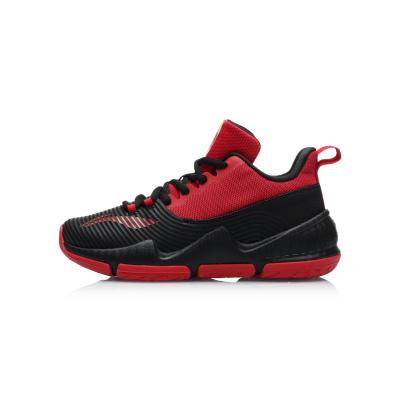 李寧童鞋男大童籃球鞋7-12歲青少年透氣時尚中幫運動鞋