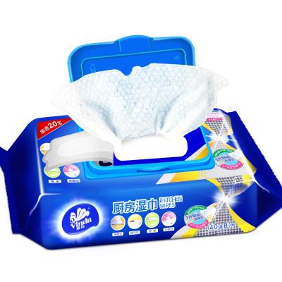 維達(Vinda) 廚房濕巾(40送8)片/包 廚房用紙濕紙巾帶蓋抽取式廚房濕紙巾去油污衛生濕巾家庭裝V4002