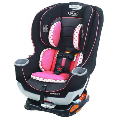 【美國斷貨王】graco/葛萊 兒童汽車安全座椅 0-7歲Extend2Fit 粉色雙向安裝 坐躺調節式 LATCH接口