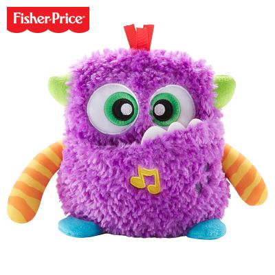 费雪 Fisher-Price 毛绒音乐小怪兽 便携安抚宝宝婴幼儿童玩具小怪兽系列新品 GDR75