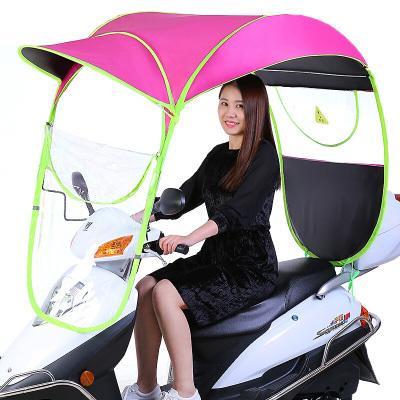 電動車雨棚棚摩托車遮雨蓬新款防雨防曬遮陽傘電瓶自行擋風透明罩