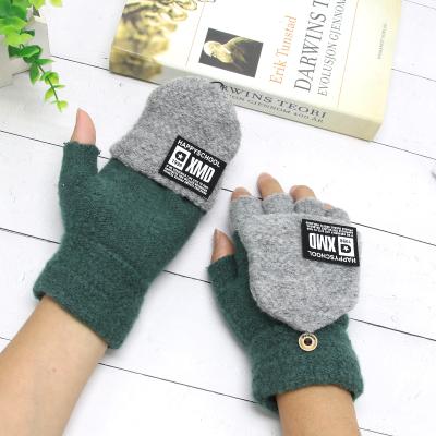 热卖儿童手套冬季半指翻盖女童男孩小孩小学生小童保暖宝宝五指1-2岁3
