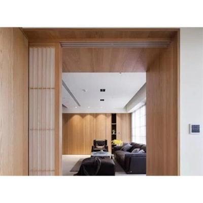 免漆飾面板橡木花紋木飾面板涂裝貼面裝飾板背景墻面護墻板仿科定
