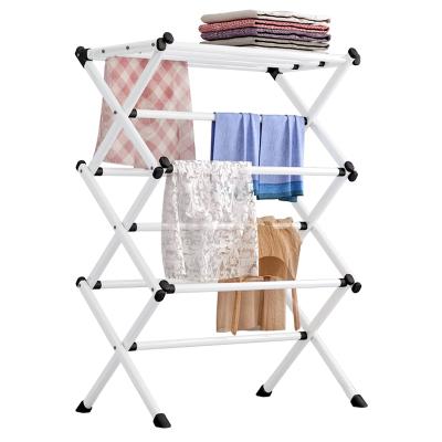 太太樂衣帽架落地臥室掛衣架簡易衣服架子家用晾曬架衣架毛巾架可收折疊室內外家用