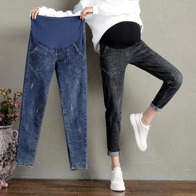 孕婦褲子時尚外穿牛仔褲秋冬季打底褲寬松外穿孕婦長褲孕婦冬裝潮 莎丞