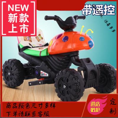 蟲兒童電摩托車三輪車男孩可坐人玩車充電電
