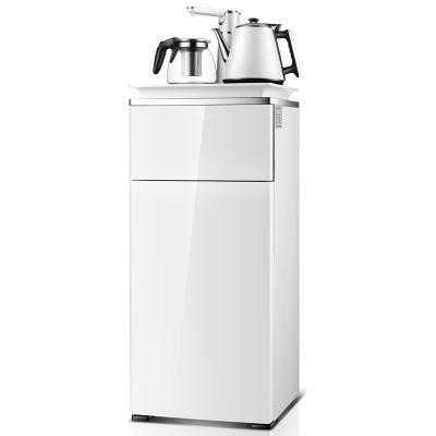 飲水機臺式小型家用白色茶吧機半自動立式下置水桶辦公室小米風 白色 溫熱