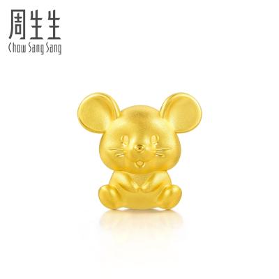 周生生(CHOW SANG SANG)黄金足金Charme串珠系列开运福鼠珠91440C定价